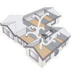 ducted air conditioning layout