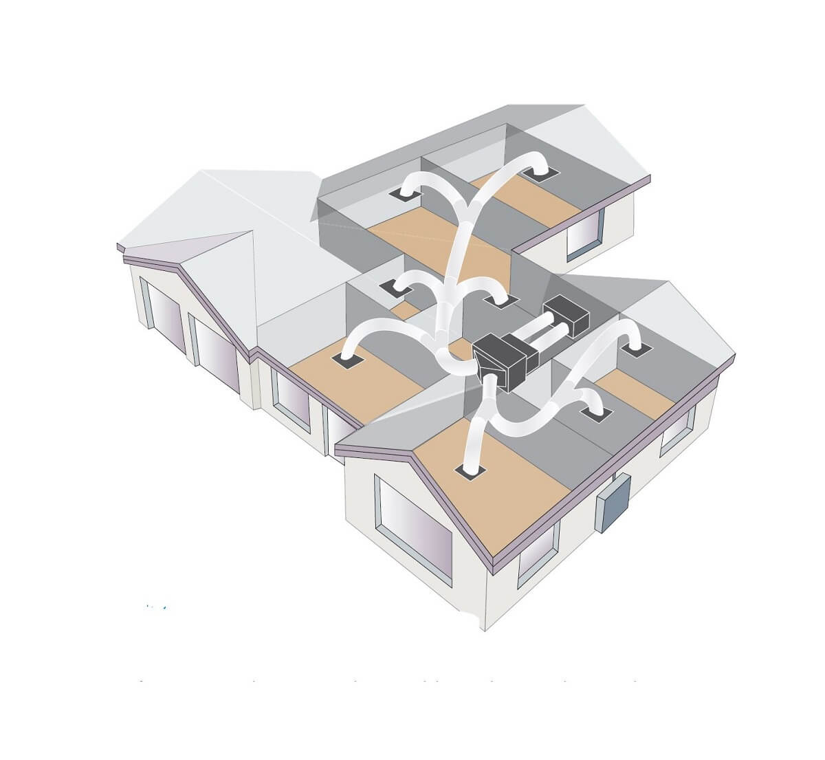 Roof space ducting diagram